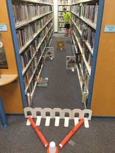 """Golf School Library Mini Golf """"Book End Bonanza"""" More - Library Games, Library Week, Teen Library, Library Events, Library Boards, Library Activities, Library Lessons, Library Ideas, Teen Activities"""