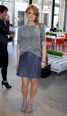 Gemma Keil, Market Editor of Instyle -Matthew Williamson top, Kookai skirt, Celine bag, Stella McCartney shoes.