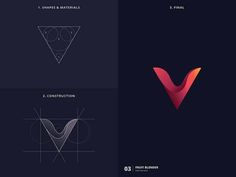 Designer Created Creative Logos with Golden Ratio