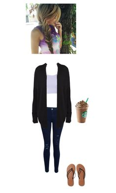 Starbucks date by pondama on Polyvore featuring polyvore, fashion, style, Witchery, Frame Denim and Abercrombie & Fitch