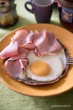 Gallette di grano saraceno, uova e prosciutto #Luiset