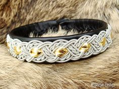 Sami Lapland Swedish Reindeer Leather Pewter Braided Bracelet with carved Antler Button, custom handmade to your size and choice of leather color.