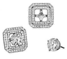 Diamond Earring Jackets #jewelry