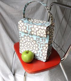 Custom Insulated Lunch Tote / Lunch Bag  - Your Choice of Fabric for this Design - Washable - Reusable on Etsy, $30.00