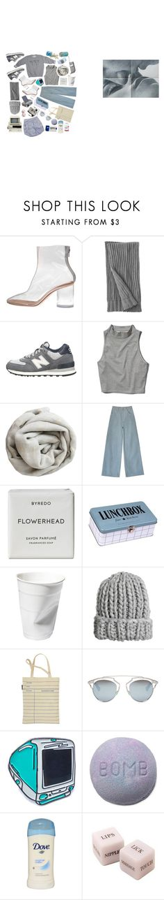 """Untitled #1882"" by flapper-shoes ❤ liked on Polyvore featuring Maison Margiela, Lands' End, New Balance, Abercrombie & Fitch, Brunello Cucinelli, Samantha Pleet, Byredo, House Doctor, H&M and Out of Print"