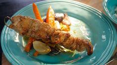 Blýskavé kuřecí špízy se zeleninou a jasmínovou rýží