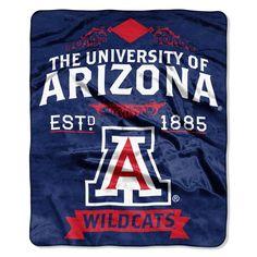 "Arizona OFFICIAL Collegiate, ""Label"" 50""x 60"" Raschel Throw by The Northwest Company"