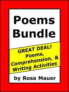 Poems: Poems in this bundle are a HUGE time and money saver as compared to buying the products individually. All poems are originally written and are not included in other bundles in my sstore. For each poem, there are comprehension questions, answers for the teacher, and a Language Arts writing activity.