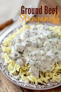 Beef stroganoff. Definitely a comfort food dish. For me, it's up on the list near fried chicken and okra. I love the humble roots of stroga...