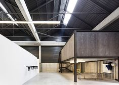 Corrugated steel and concrete warehouse used to house artwork by Andy Warhol, John Baldessari and Antony Gormley.