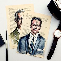 """ Tag a friend that loves #madmen  Follow the artist: @sunflowerman  #art #artist #watercolor #amc #artbotic"" Photo taken by @artbotic on Instagram, pinned via the InstaPin iOS App! http://www.instapinapp.com (04/06/2015)"
