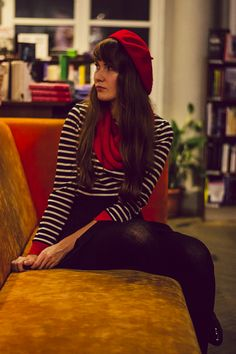 Just going to start dressing like a stereotypical Parisian. #beret #stripes #style