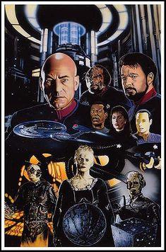 Star Trek: First Contact art http://www.warpedspacescifi.com/   #startrek #LLAP #kurttasche