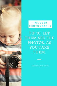 Your child may be nervous at the beginning of their photo shoot To ease their fears, take a few quick photos of the. Then give them the opportunity to see themselves in your camera. They will probably be more willing to cooperate, if they can see the results. They may even ask to see themselves throughout the photo session.  To see the rest of the tips, click on the link and head over to our blog at VanahLynn.com! Little Diva, Little Girls, Embrace The Chaos, 1st Birthday Party For Girls, Drawing Activities, Toddler Photos, Toddler Photography, Cool Hats, Girl Quotes