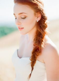 Fishtail braid: http://www.stylemepretty.com/2013/08/05/summer-inspired-photo-shoot-from-coco-tran-photography/   Photography: Coco Tran Photography - http://cocotranphotography.com/