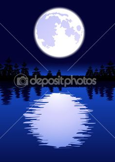 Moon in the night — Stock Vector #1708387