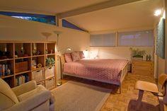 Claremont Rancho: triangle windows. mid century modern