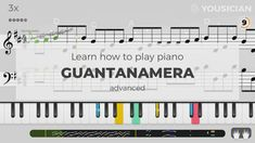 Learn to play Guantanamera made famous by Traditional on piano with the Yousician app! Perfect for beginners and advanced musicians. Easy Piano Sheet Music, Music Sheets, Piano Lessons, Music Lessons, Learning Music Notes, Keyboard Tutorial, Best Digital Piano, Keyboard Lessons, Music Chords