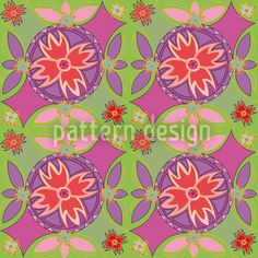 Floral Circles by Suman Sharma available for download as a vector file on patterndesigns.com
