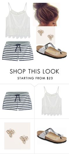 """""""Beach Day"""" by averyglehr on Polyvore featuring T By Alexander Wang, WithChic, LOFT, Birkenstock, women's clothing, women, female, woman, misses and juniors"""