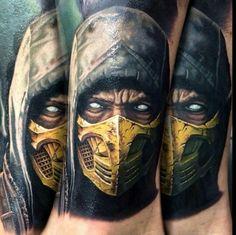 Scorpion from Mortal Kombat X tattoo