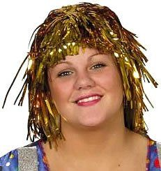 Just For Fun Gold Tinsel Wig ** Details can be found by clicking on the image. (This is an affiliate link) #WigsDressUpToys