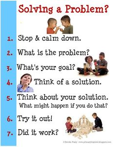Problem solving scenarios for preschoolers