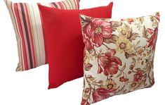 Geometric Pillow, Cushions, Throw Pillows, Modern Pillows And Throws, Handmade Cushions, Red Sofa, Red Throw Pillows, Farmhouse Decor, Decorative Pillows