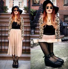 Sosie Skirt, Mango Cardigan, Vj Style Shoes