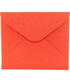 ► Sobre de Papel Reciclado Hecho a Mano - Naranja #invitaciones #bodas