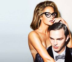 How to fix tan lines with self-tanner. (Thank you Tom Ford for this 2010 eyewear campaign starring Carolyn Murphy and Nicholas Hoult. Carolyn Murphy, Tom Ford Glasses, Cat Eye Glasses, Big Glasses, Nicholas Hoult, Tom Ford Eyewear, Women's Eyewear, Image Fashion, Hair