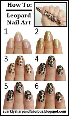 How To: Leopard Nail Art -- Enter the #ManiCure Pinterest Sweeps for a chance to WIN a one year supply of #Suave & #Qtips products OR a $500 gift card for a day of beauty and style! No pur nec. Must be 18+. Ends 10/10/13. Click for details.