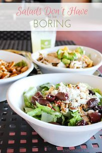 Salads don't have to be boring or unsatisfying. Here are my 4 favorite Panera salads, chocked full of more than just greens & veggies and bursting with different textures and fresh flavor! Quick Salad Recipes, Healthy Recipes, Healthy Food, Panera Salad, Green Veggies, Tasty, Yummy Food, Potato Salad, Salads