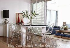 Construindo Minha Casa Clean: O Charme das Cadeiras Transparentes na Decoração!