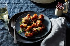 General Tso's Cauliflower-----Not low carb because of the cornstarch batter but interesting vegetarian option.