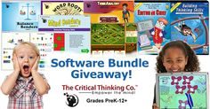 Win a Free Software Bundle of Your Choice from CriticalThinking.com!  (Up to a $382 Value!) Downloadable software bundles available for Grades PreK-12+ | 3 Lucky Winners!
