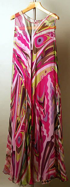 Florence based designer Emilio Pucci 1967, Italian silk, I love the fun pattern of this dress pant ensemble.