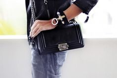 chanel boy bag & givenchy obsedia cuff