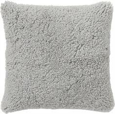 Kudde fårskinn grå 45x45cm ICA Home