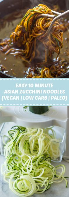 New Healthy Recipes Easy Low Carb Clean Eating Zucchini Noodles Ideas Vegan Zoodle Recipes, Zucchini Noodle Recipes, Zucchini Noodles, Vegetarian Recipes, Vegan Zucchini, Keto Recipes, Keto Foods, Asian Side Dishes, Low Carb Side Dishes