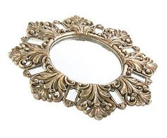 Espejo redondo en resina I - oro