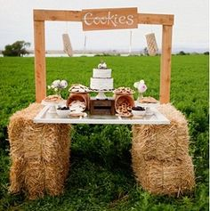 Think cookies and milk parties are just for kids? You won't after seeing this styled bridal shoot by Love and Lavender and Jonda Spurbeck Photography! There are such cute ideas here for any bridal shower, engagement party, or even a wedding reception. The wooden stands coupled with bales of hay are