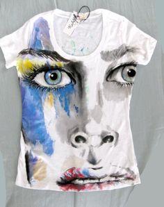 Art by Karla Hand Painted tshirt / Make a fashion by karlapl, $48.00