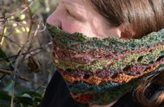 My One Ball Lacy Sock Yarn Cowl