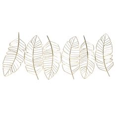 Déco murale plumes en métal doré 72x29 | Maisons du Monde