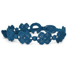 "Trendy Kleeblattarmband von Cruciani ""Quadrifoglio Aquamarine"""
