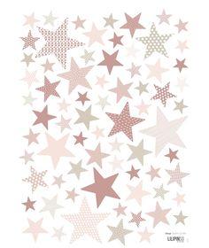"""planche de stickers étoiles """"my superstar"""" mistyrose de chez Lilipinso"""