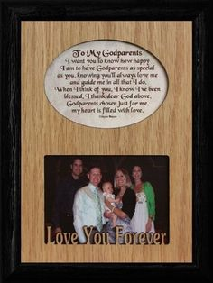 5x7 to my godparents laser poetry frame wonderful baptism keepsake frame for the godparents