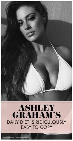 Model, Ashley Graham is all about body positivity and takes her health pretty seriously. She hits the gym multiple times per week and eats a healthy diet while enjoying her favorite treats here and there. Get her totally doable diet here. Womanista.com