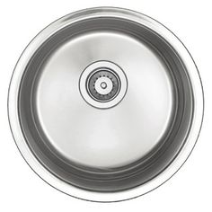 """Belle Foret 18"""" Round Stainless Steel Bar Sink"""